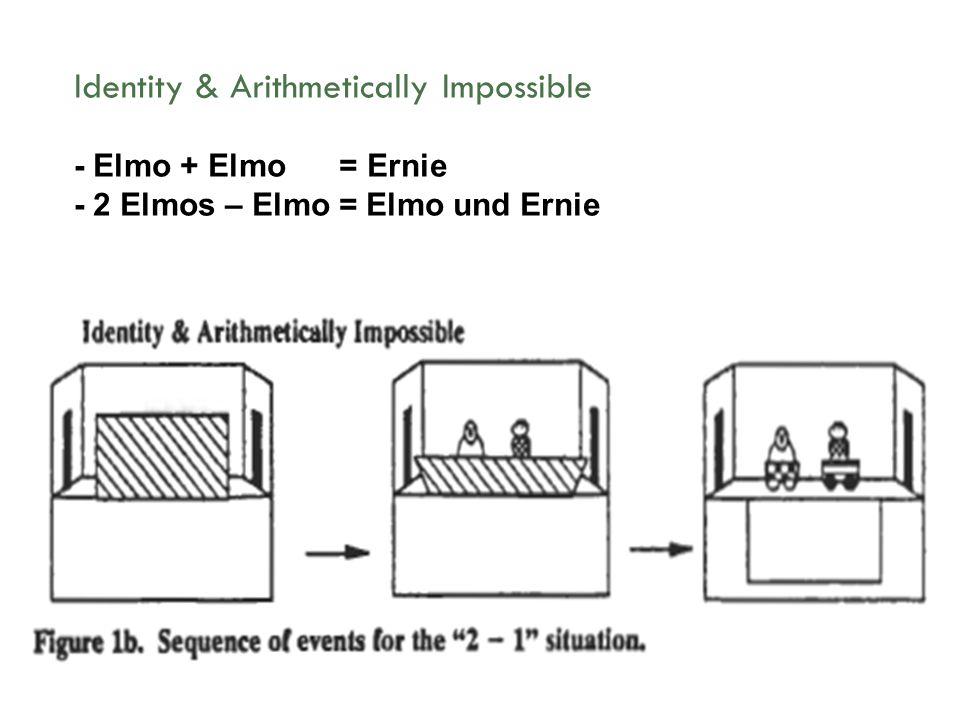 Identity & Arithmetically Impossible - Elmo + Elmo = Ernie - 2 Elmos – Elmo = Elmo und Ernie