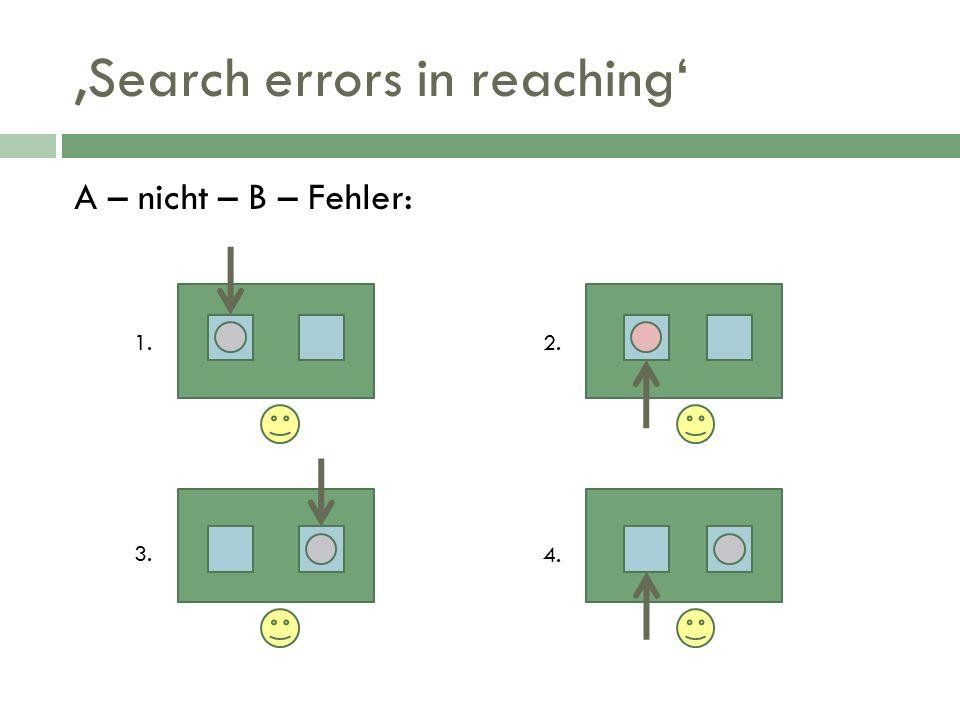 Search errors in reaching A – nicht – B – Fehler: 1.2. 3. 4.