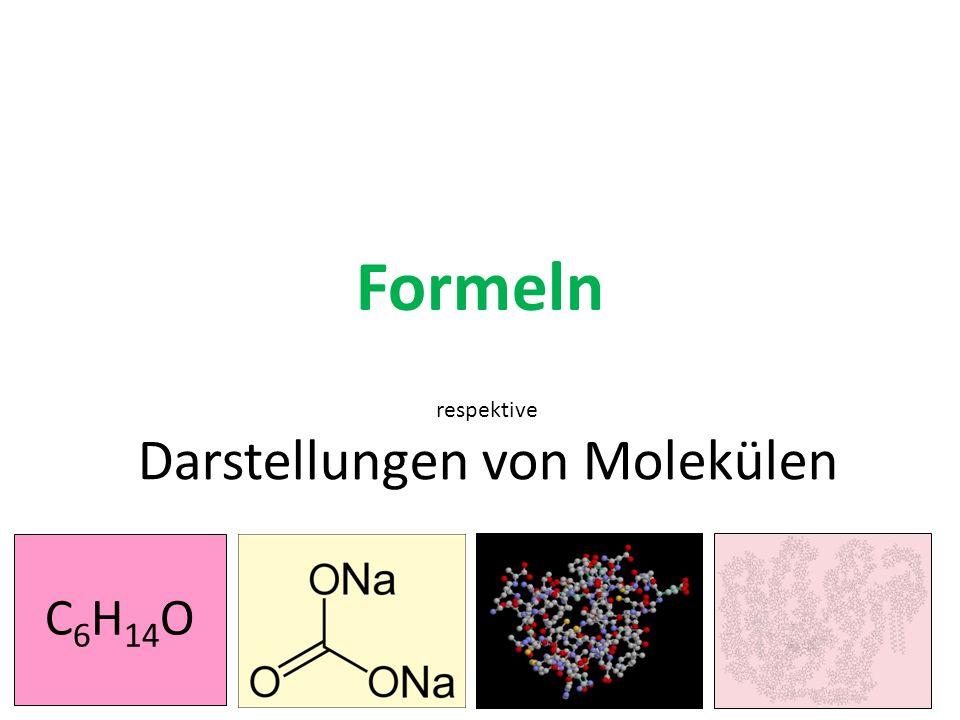 Formeln respektive Darstellungen von Molekülen C 6 H 14 O