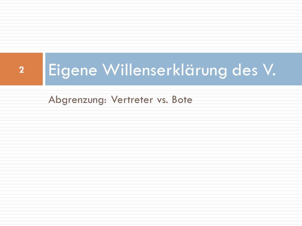 Gesetzliche Vertretungsmacht 33 Beispiel: GmbH-Geschäftsführer KV GmbHVertragspartner Bestellung (GesVertrag oder GesVers.) GmbH-Geschäftsführer, der im Namen der GmbH einen Kaufvertrag schließt Gesetzliche Regelung im GmbH-Gesetz