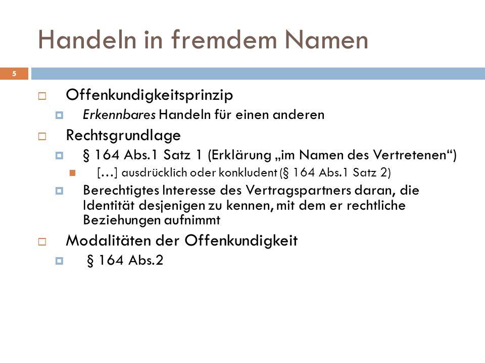 Geschäft für den, den es angeht Palandt/Ellenberger, 69.