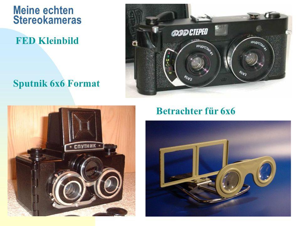 Meine echten Stereokameras FED Kleinbild Sputnik 6x6 Format Betrachter für 6x6
