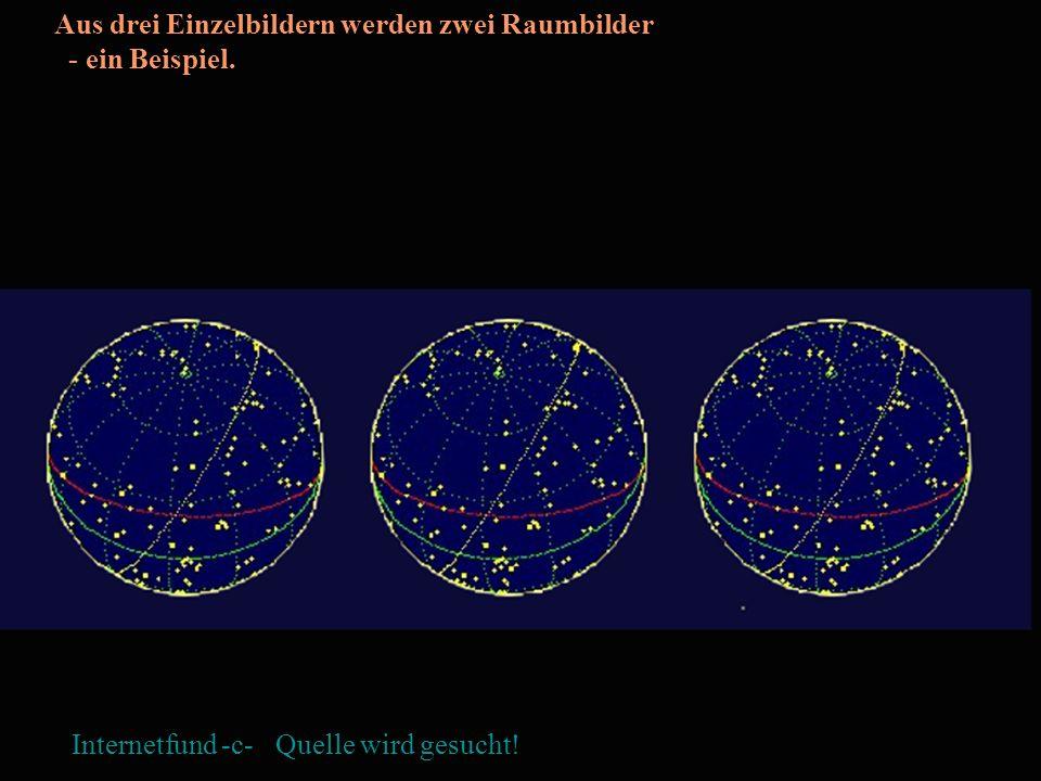 Aus drei Einzelbildern werden zwei Raumbilder - ein Beispiel. Internetfund -c- Quelle wird gesucht!