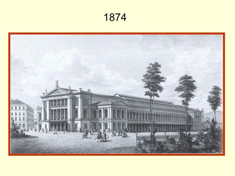 Wien Südbahnhof 1874 bis 1945 Das war der erste Wiener Südbahnhof im Jahr 1875 und so hat er auch bis zum Jahr 1945 ausgesehen.