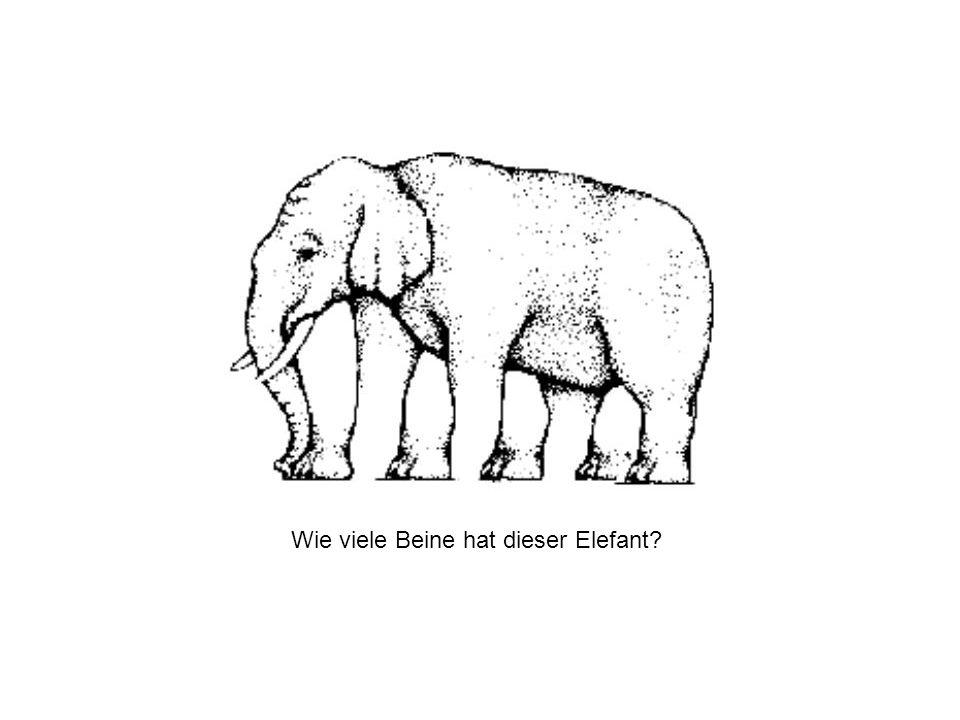 Wie viele Beine hat dieser Elefant?