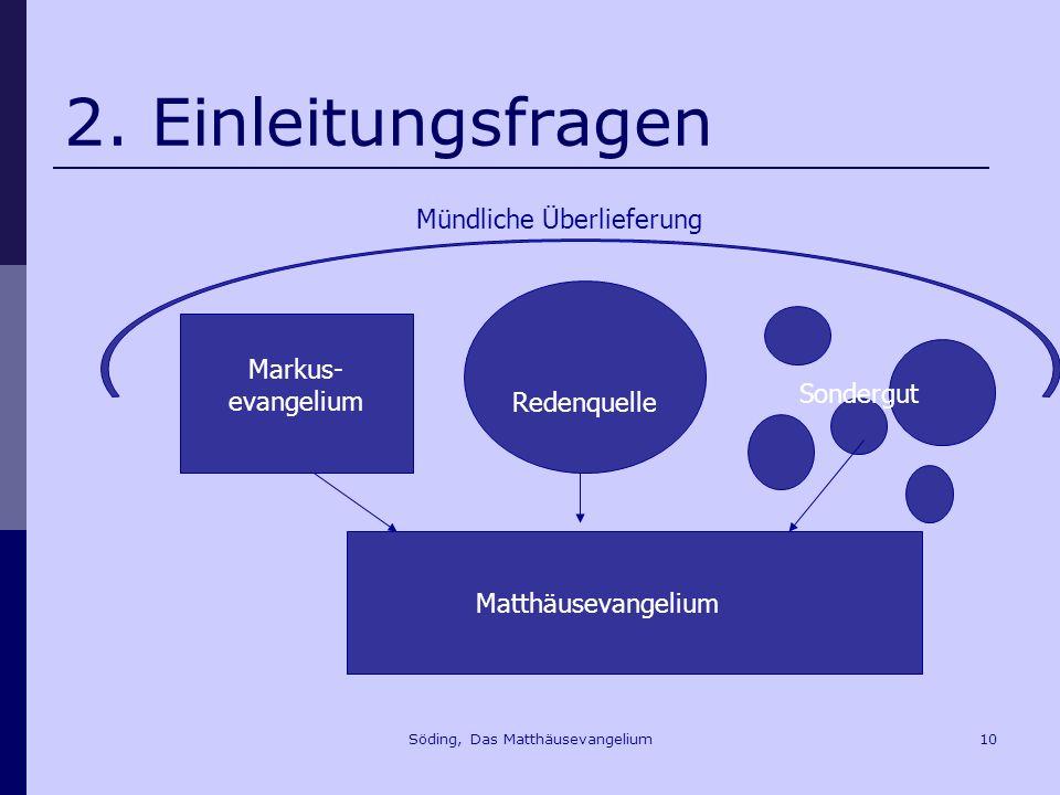 Söding, Das Matthäusevangelium10 2.