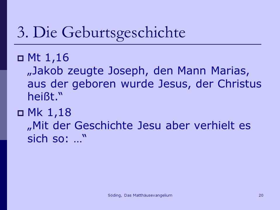 Söding, Das Matthäusevangelium20 3.