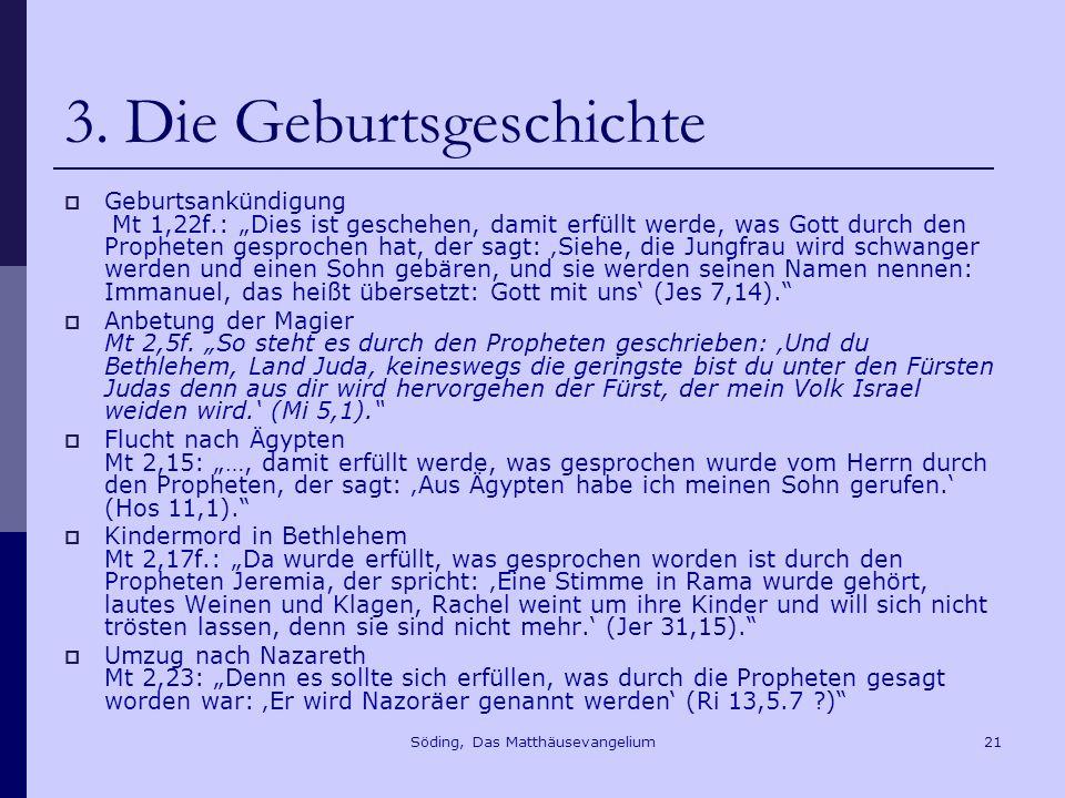 Söding, Das Matthäusevangelium21 3.