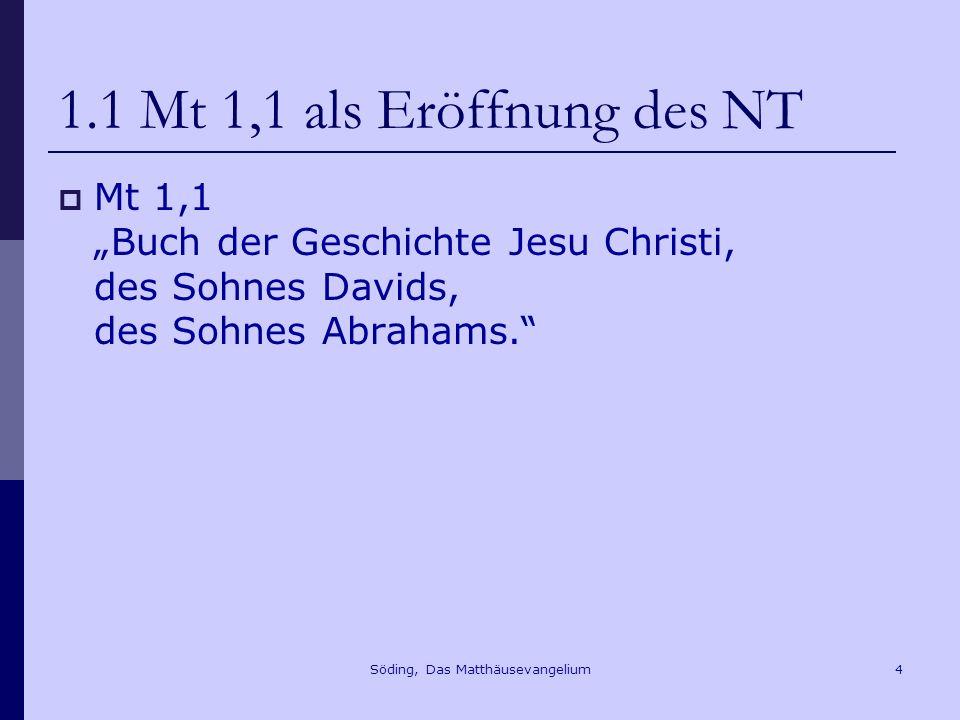 Söding, Das Matthäusevangelium55 9.Der Einzug Jesu in Jerusalem Mt 21,4f.