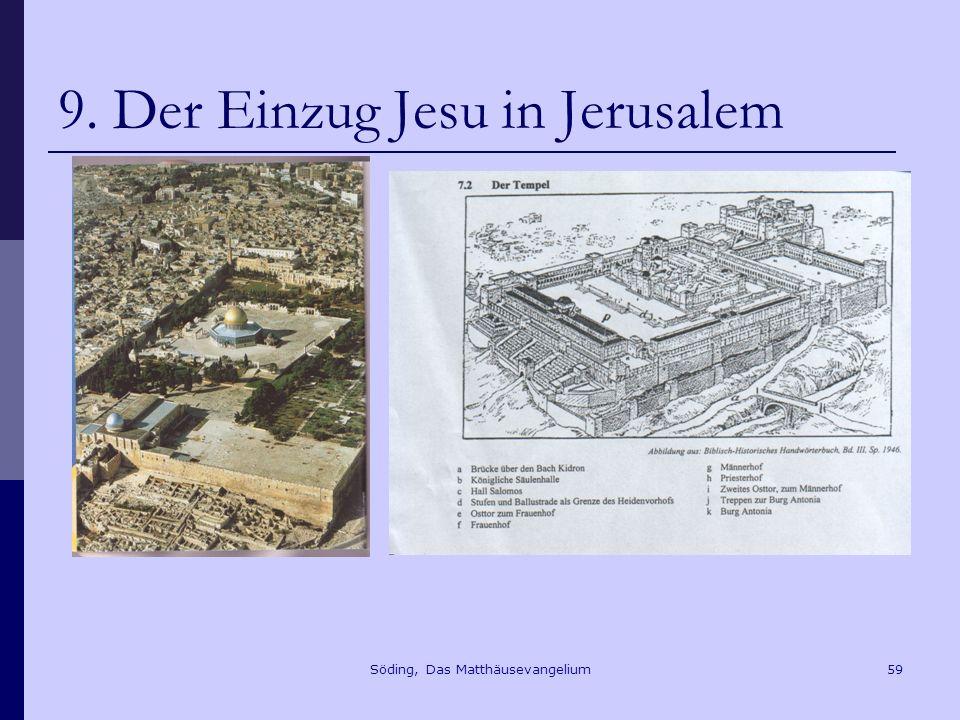Söding, Das Matthäusevangelium59 9. Der Einzug Jesu in Jerusalem