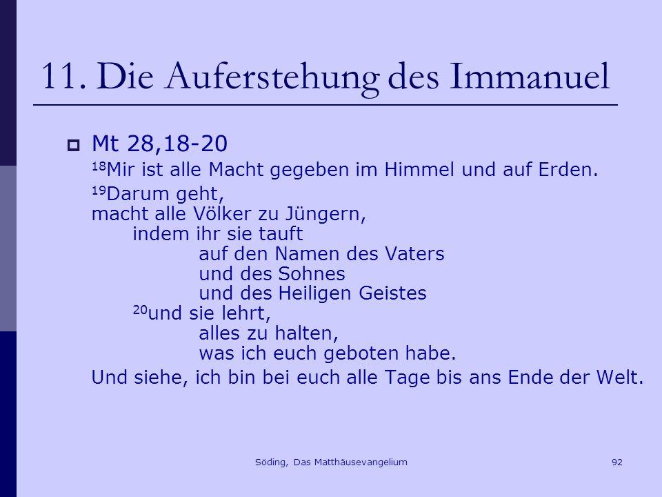 Söding, Das Matthäusevangelium92 11.