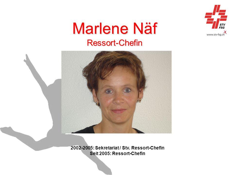Marlene Näf Ressort-Chefin 2002-2005: Sekretariat / Stv. Ressort-Chefin Seit 2005: Ressort-Chefin