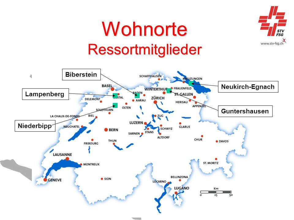 Wohnorte Ressortmitglieder Guntershausen Neukirch-Egnach Niederbipp Lampenberg Biberstein