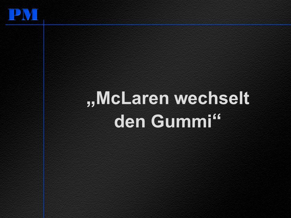 McLaren wechselt den Gummi