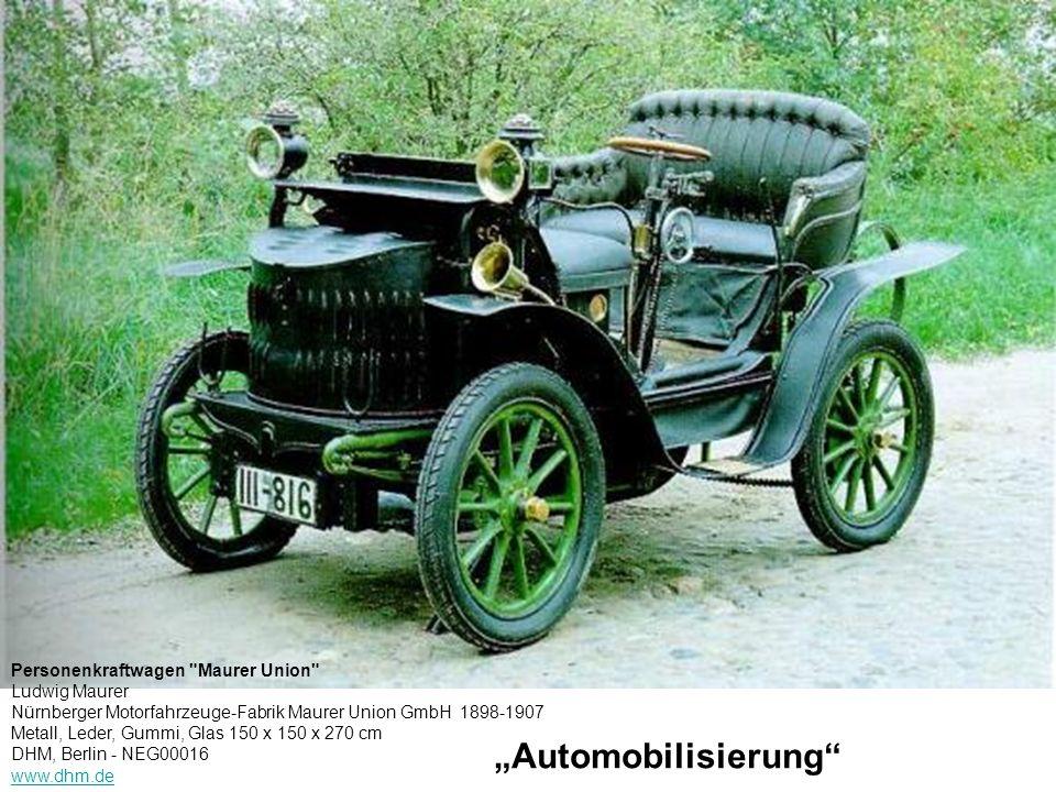 Automobilisierung Personenkraftwagen
