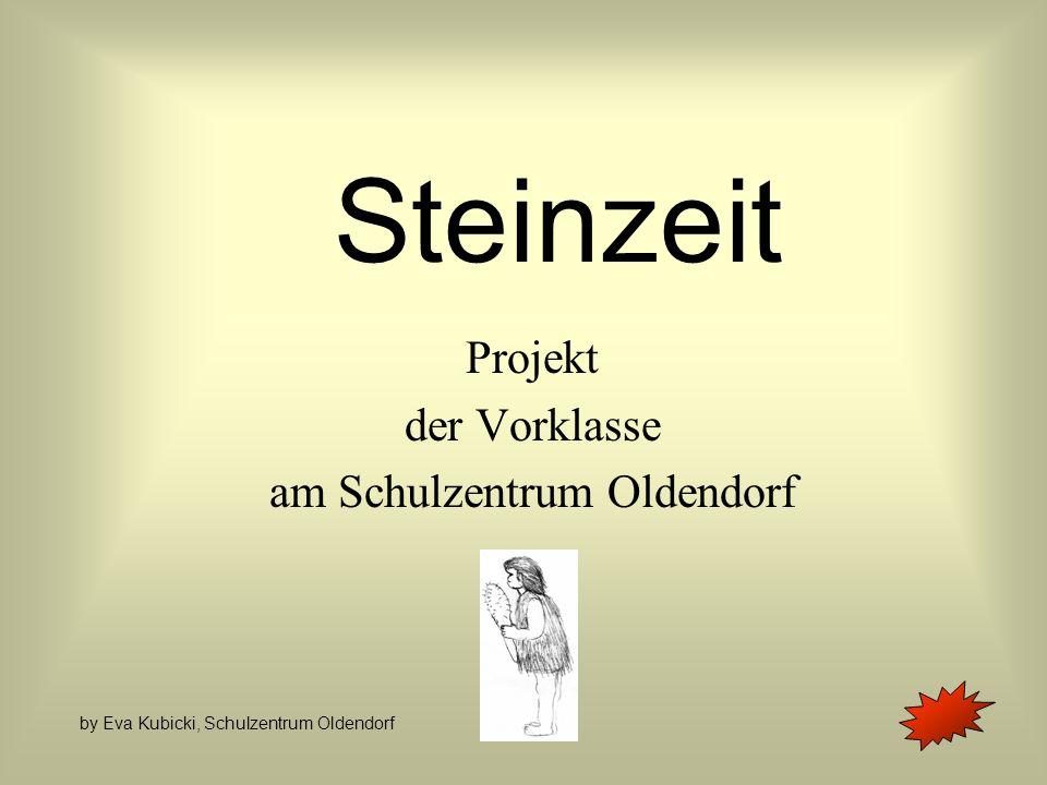 Steinzeit Projekt der Vorklasse am Schulzentrum Oldendorf by Eva Kubicki, Schulzentrum Oldendorf