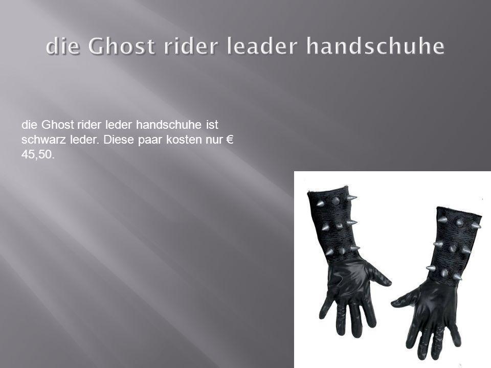 die Ghost rider leder handschuhe ist schwarz leder. Diese paar kosten nur 45,50.