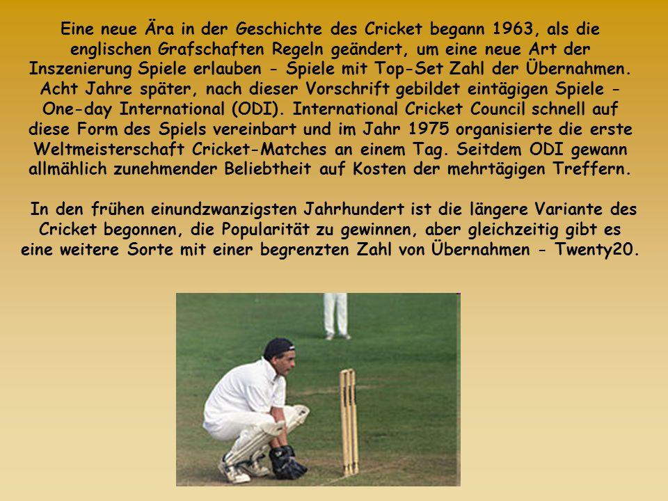Eine neue Ära in der Geschichte des Cricket begann 1963, als die englischen Grafschaften Regeln geändert, um eine neue Art der Inszenierung Spiele erl