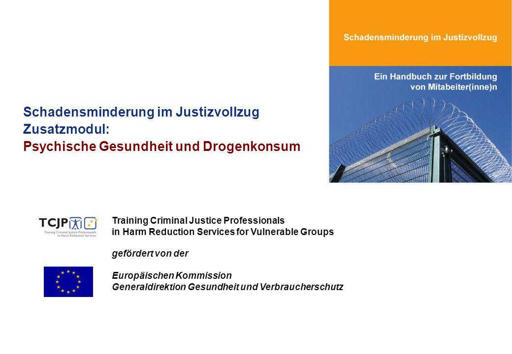 Schadensminderung im Justizvollzug Zusatzmodul: Psychische Gesundheit und Drogenkonsum Training Criminal Justice Professionals in Harm Reduction Servi