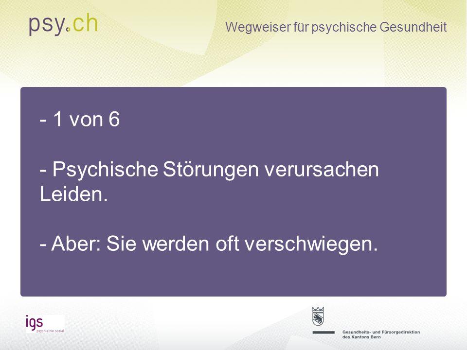 Wegweiser für psychische Gesundheit -Website ist im Aufbau -Seit März 2013 online -Aktuell 163 Angebote -geschätzte Anzahl Angebote ca.