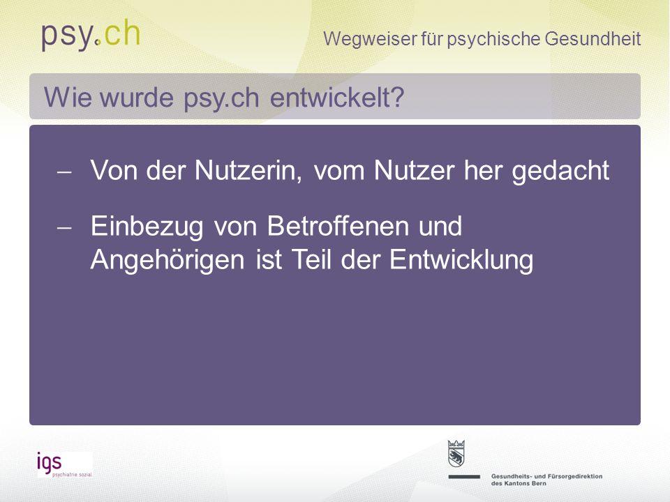 Wegweiser für psychische Gesundheit Suchmaske Angebotsmaske...