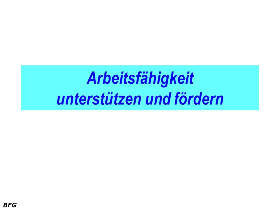 BFG Arbeitsfähigkeit unterstützen und fördern