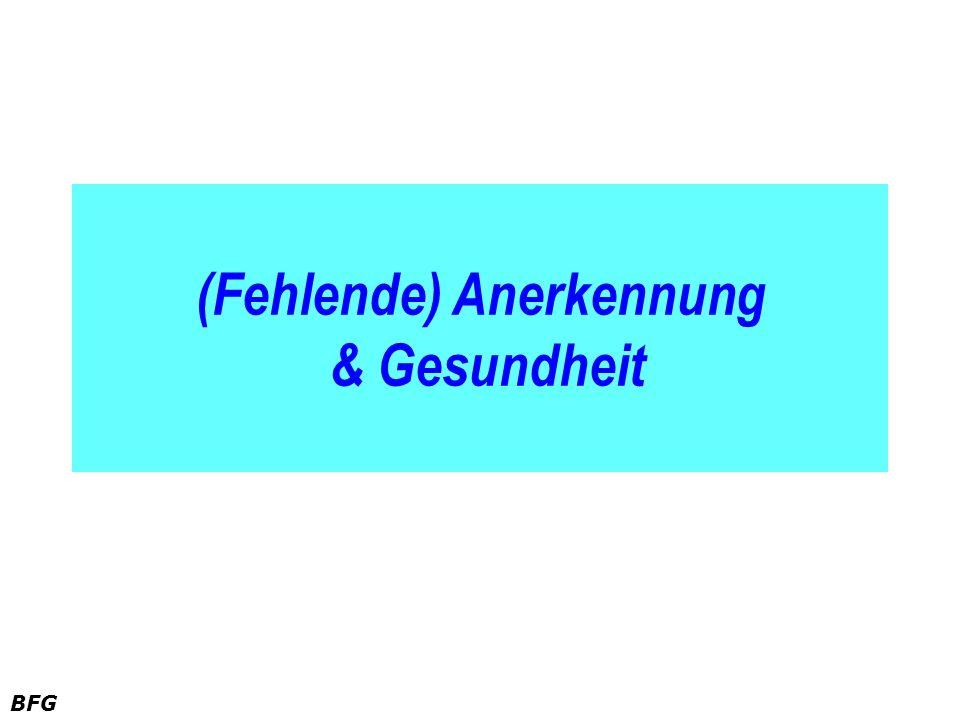 BFG (Fehlende) Anerkennung & Gesundheit
