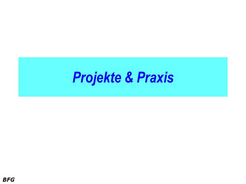 BFG Projekte & Praxis