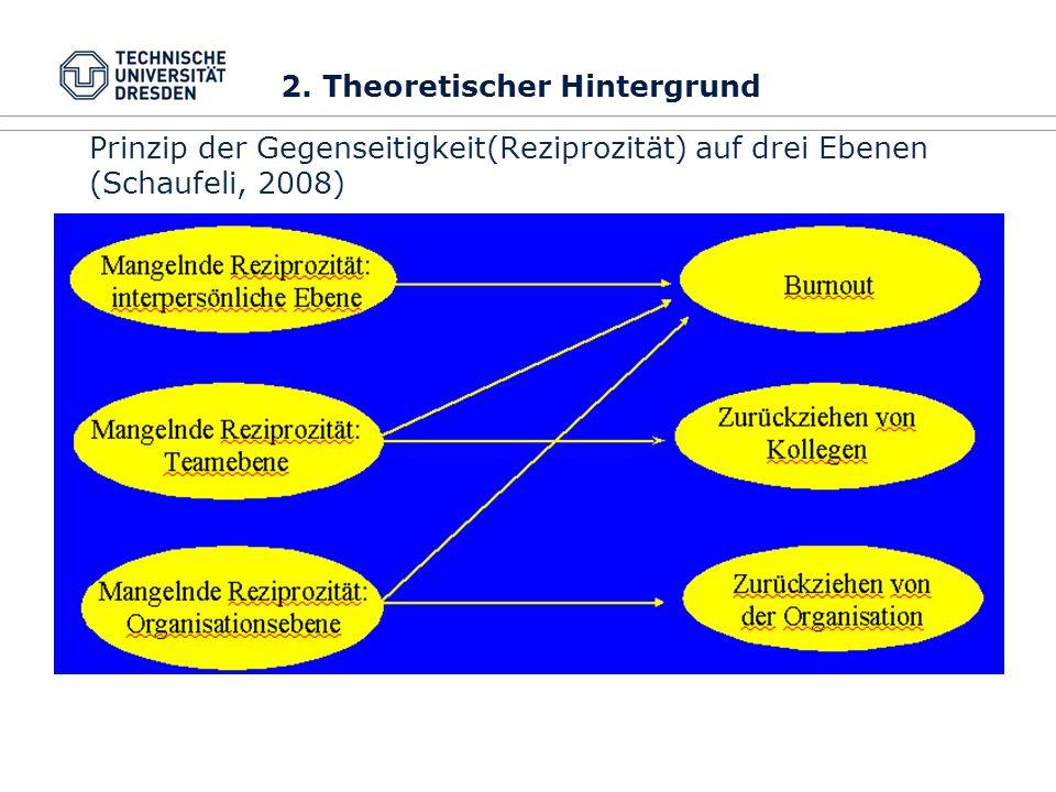 Prinzip der Gegenseitigkeit(Reziprozität) auf drei Ebenen (Schaufeli, 2008) 2. Theoretischer Hintergrund