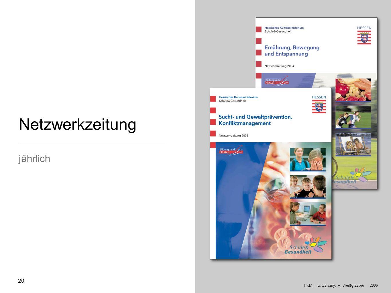 jährlich Netzwerkzeitung 20 HKM | B. Zelazny, R. Weißgraeber | 2006