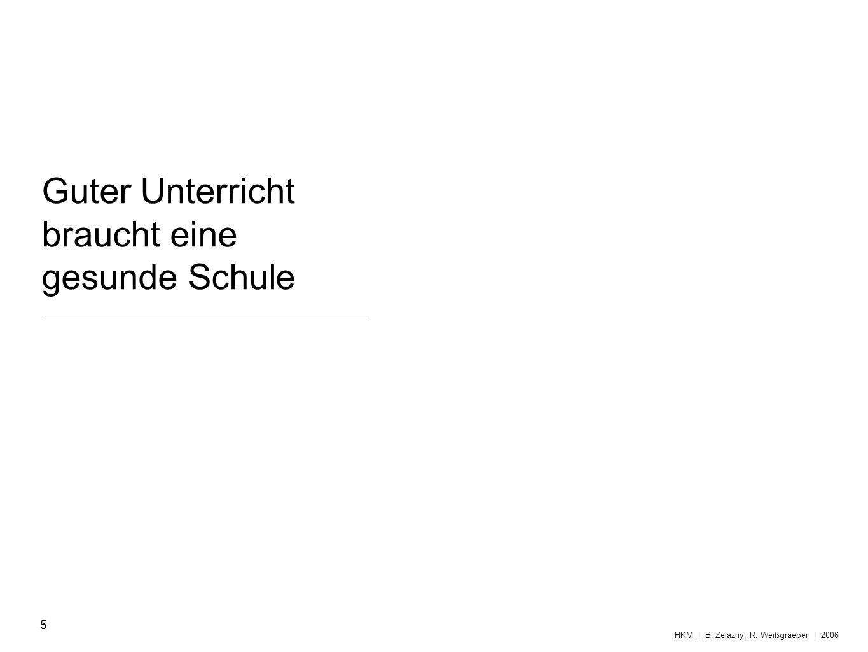 & Strukturen Gesundheitsmanagement 26 HKM | B. Zelazny, R. Weißgraeber | 2006