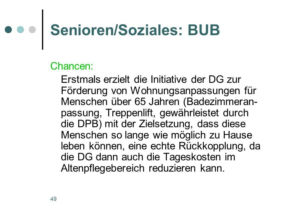 49 Senioren/Soziales: BUB Chancen: Erstmals erzielt die Initiative der DG zur Förderung von Wohnungsanpassungen für Menschen über 65 Jahren (Badezimme