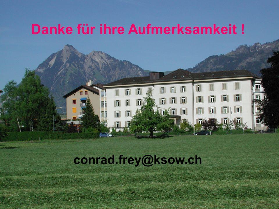 Psychiatrie Obwalden/Nidwalden 29 Danke für ihre Aufmerksamkeit ! conrad.frey@ksow.ch