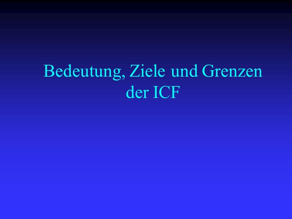 Bedeutung, Ziele und Grenzen der ICF