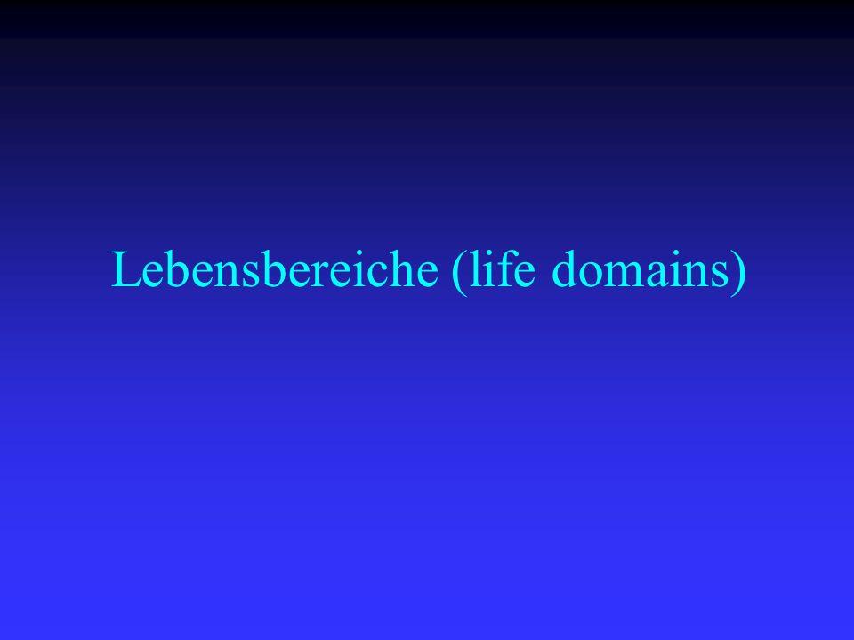 Lebensbereiche (life domains)