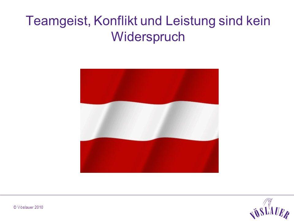 © Vöslauer 2010 Teamgeist, Konflikt und Leistung sind kein Widerspruch