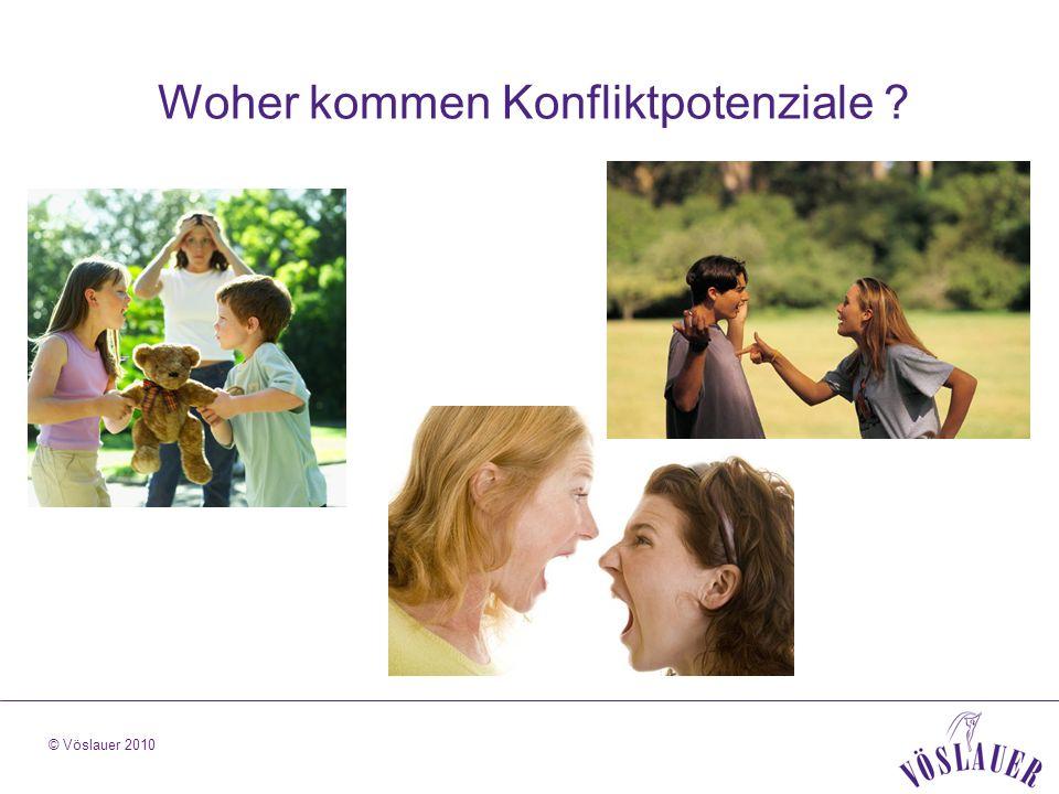 © Vöslauer 2010 Woher kommen Konfliktpotenziale ?