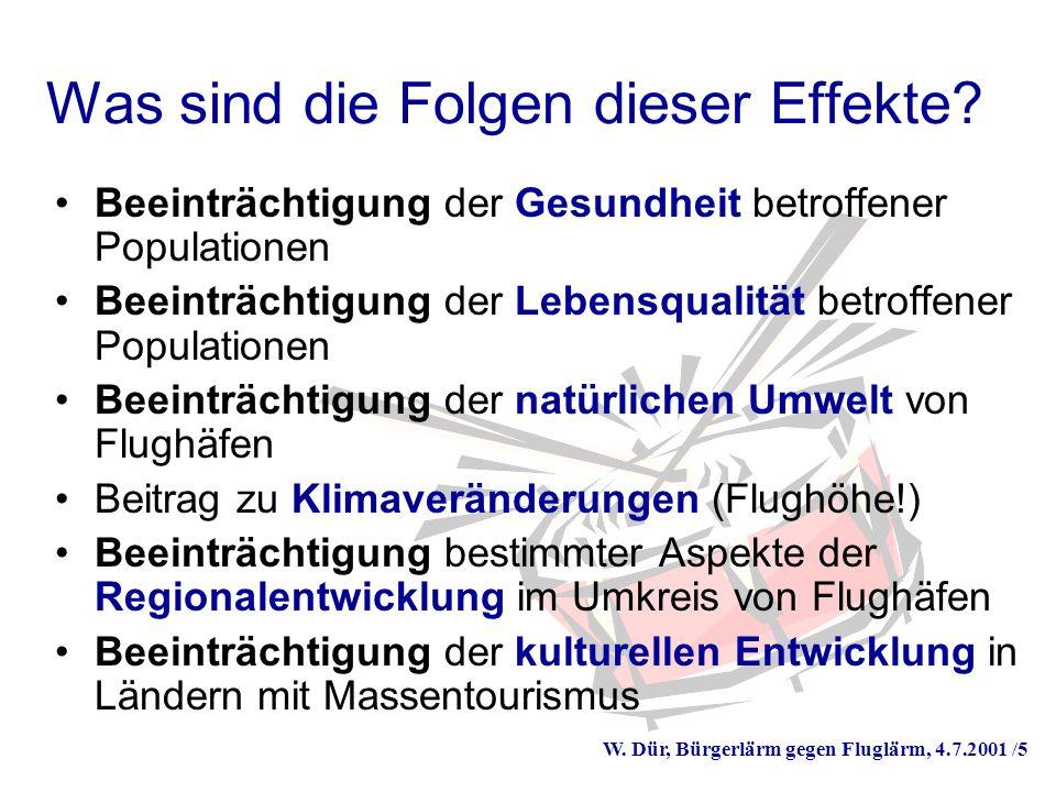 W. Dür, Bürgerlärm gegen Fluglärm, 4.7.2001 /5 Was sind die Folgen dieser Effekte.