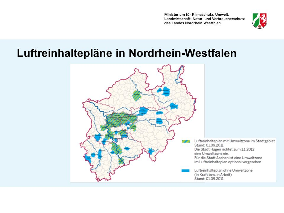 Luftreinhaltepläne in Nordrhein-Westfalen