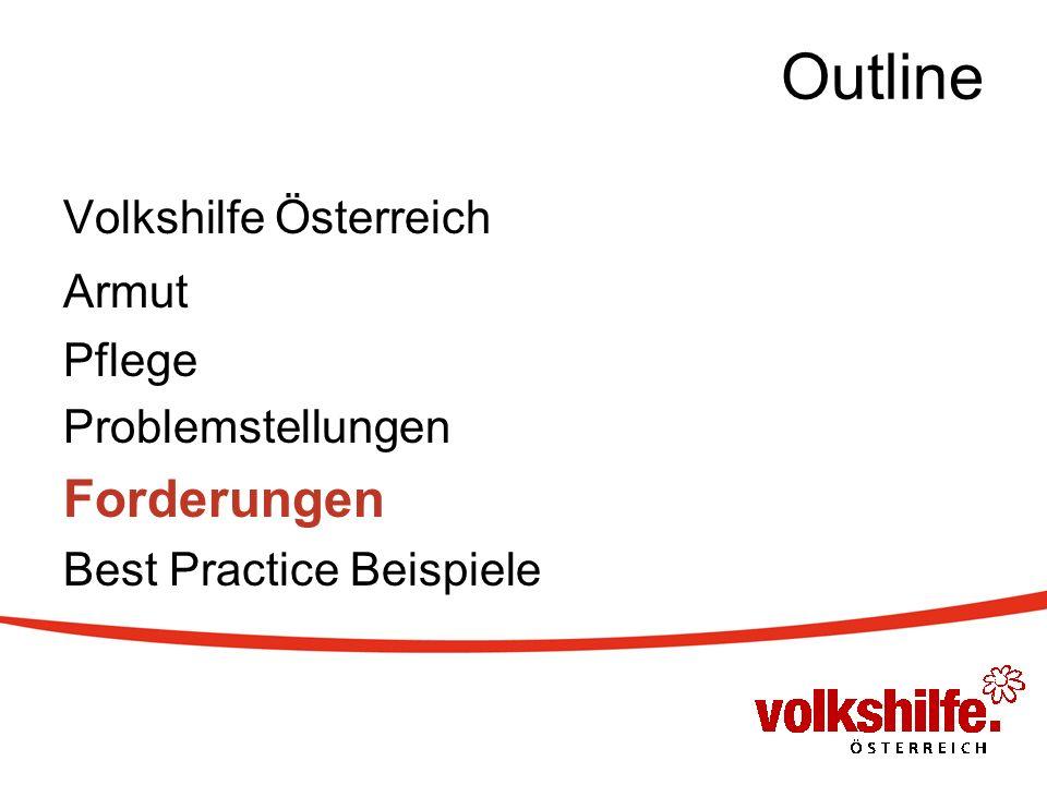Outline Volkshilfe Österreich Armut Pflege Problemstellungen Forderungen Best Practice Beispiele