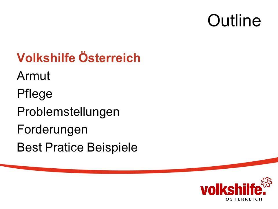 Outline Volkshilfe Österreich Armut Pflege Problemstellungen Forderungen Best Pratice Beispiele