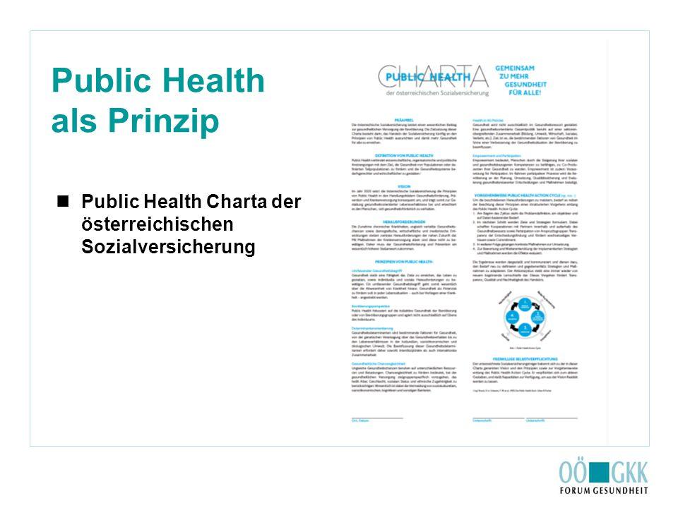 Public Health als Prinzip Public Health Charta der österreichischen Sozialversicherung
