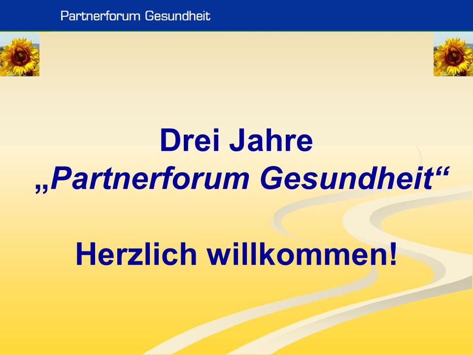 Das Partnerforum Gesundheit ist für uns … DER Partner für Vernetzung, Austausch und unbürokratische Zusammenarbeit Palliativ Team des LK Hainburg