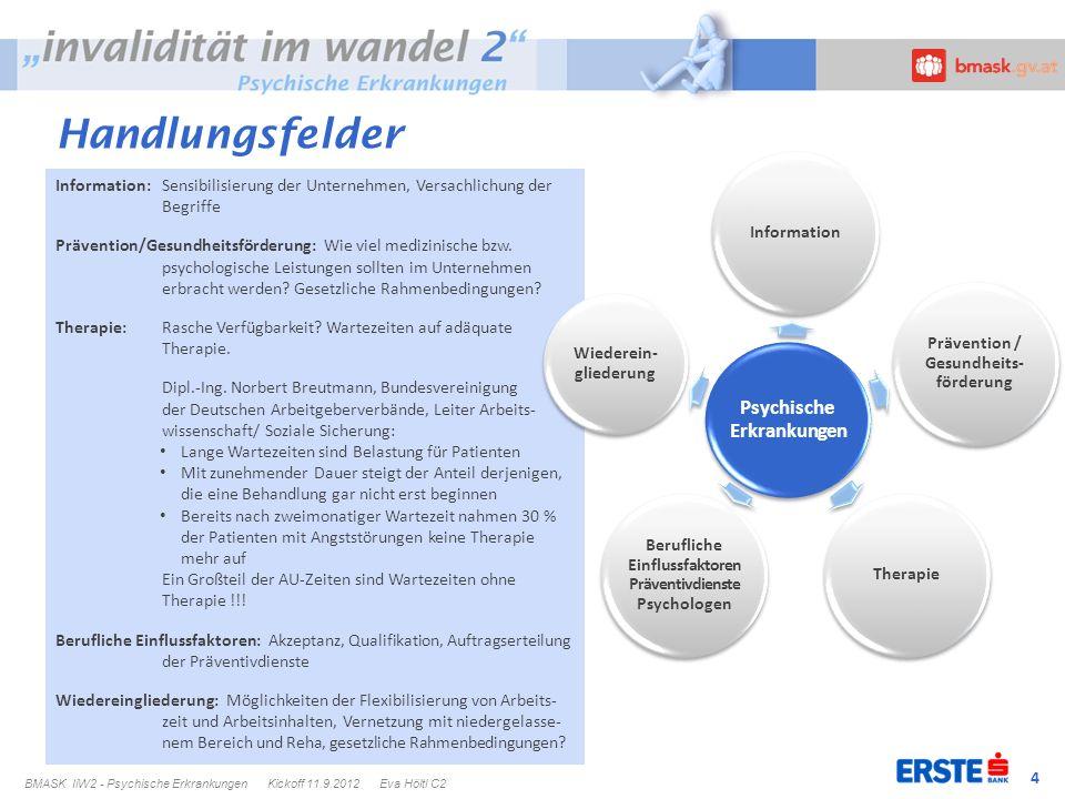 4 Information: Sensibilisierung der Unternehmen, Versachlichung der Begriffe Prävention/Gesundheitsförderung: Wie viel medizinische bzw. psychologisch