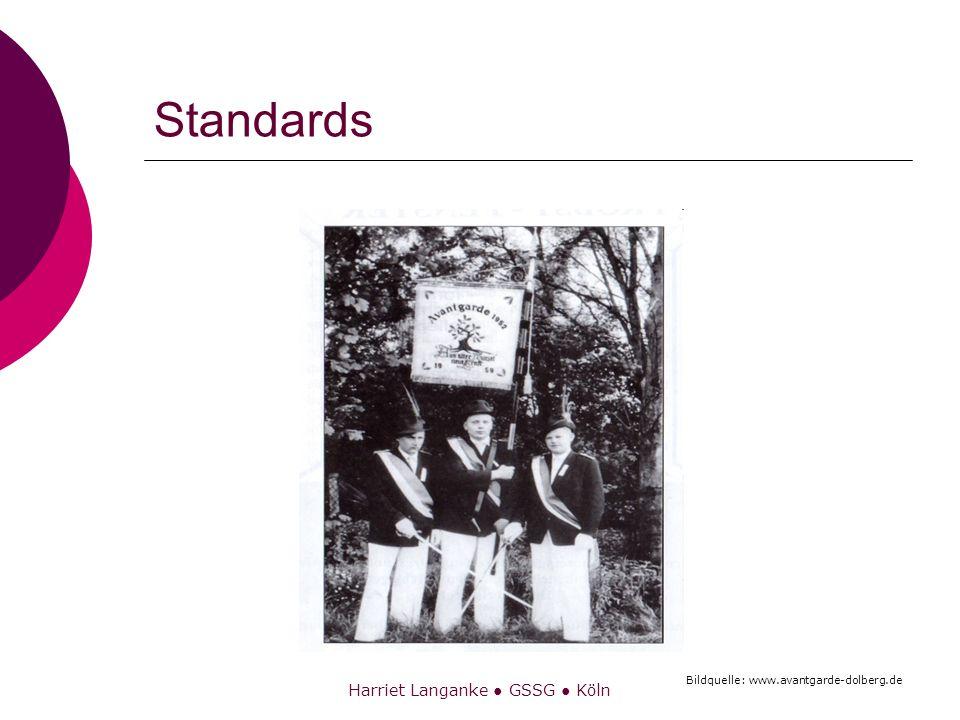 Harriet Langanke GSSG Köln Standard – Begrifflichkeit 1 Zur Etymologie des Begriffs: Standard (aus dem englischen): Im Namen bzw.