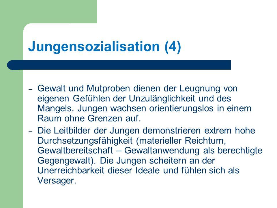 Jungensozialisation (4) – Gewalt und Mutproben dienen der Leugnung von eigenen Gefühlen der Unzulänglichkeit und des Mangels.