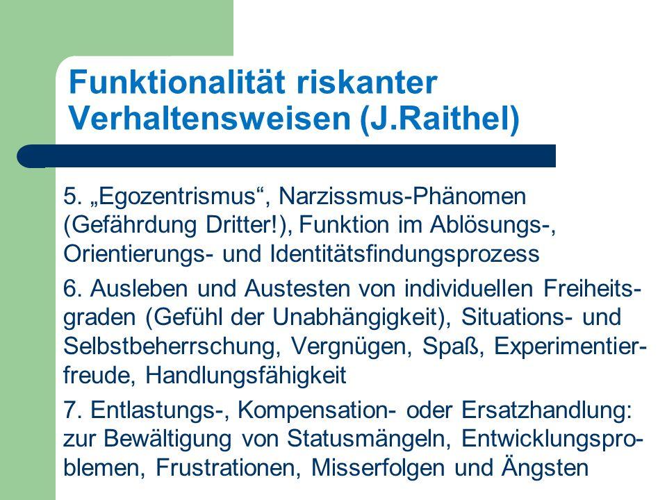 Funktionalität riskanter Verhaltensweisen (J.Raithel) 5.