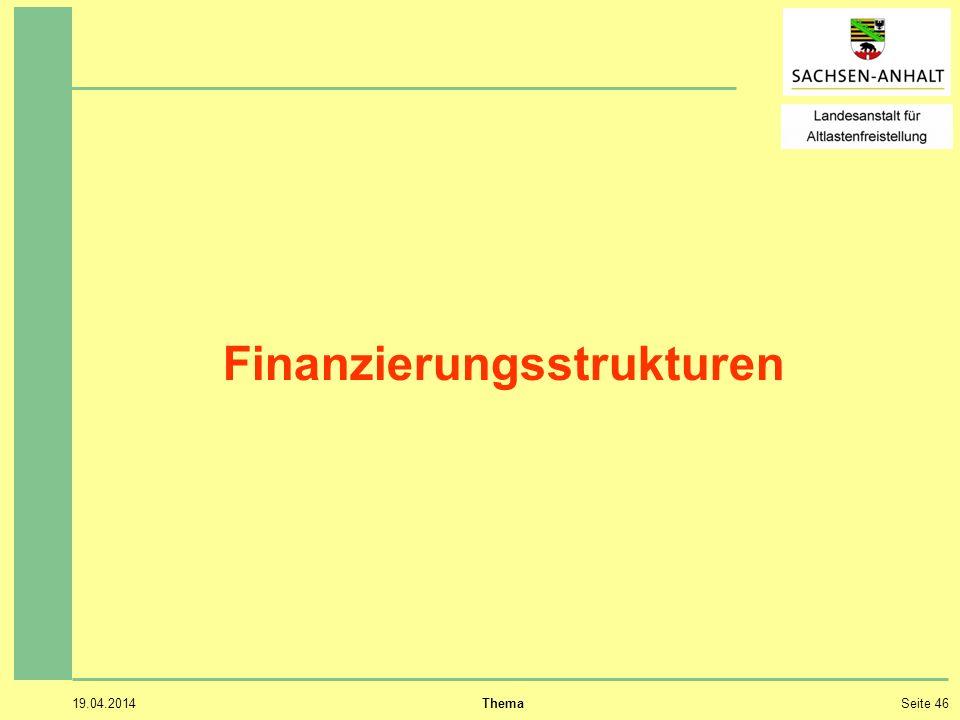 19.04.2014 ThemaSeite 46 Finanzierungsstrukturen