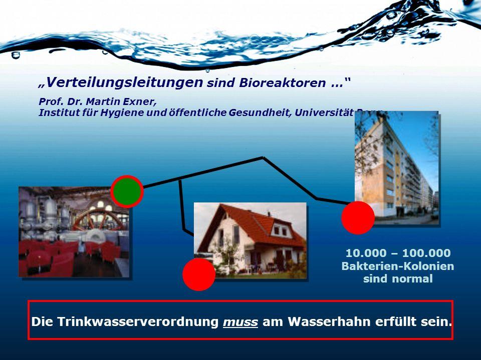 Verteilungsleitungen sind Bioreaktoren … Prof. Dr. Martin Exner, Institut für Hygiene und öffentliche Gesundheit, Universität Bonn. Die Trinkwasserver