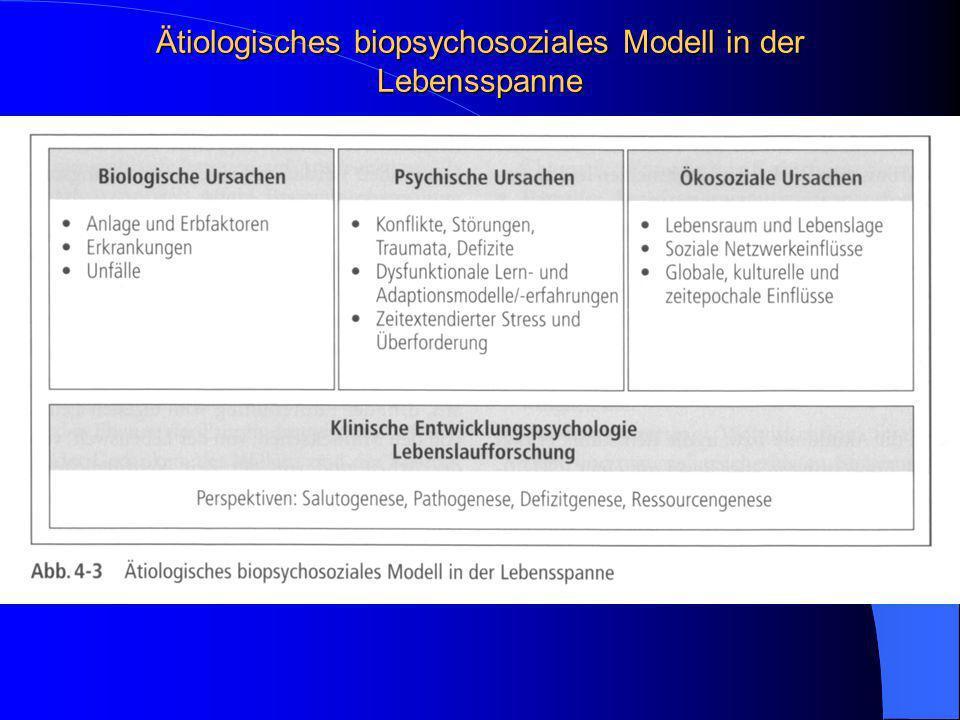 Ätiologisches biopsychosoziales Modell in der Lebensspanne